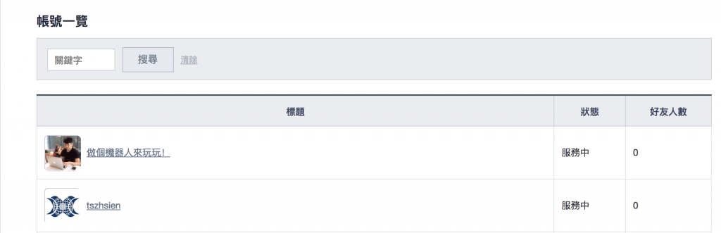 line@官方+line聊天機器人