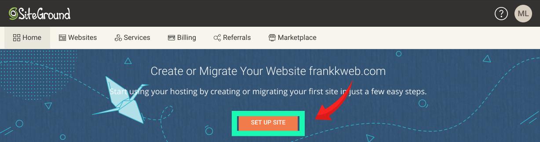 網頁製作教學 :SiteGround,點擊網站設計