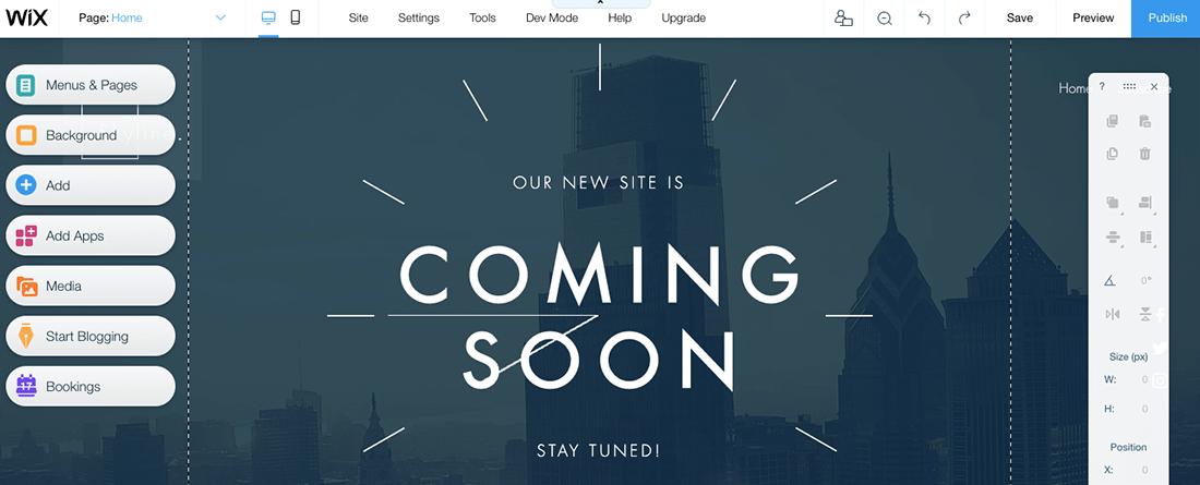 網站架設 :wix editor 客製化網頁設計