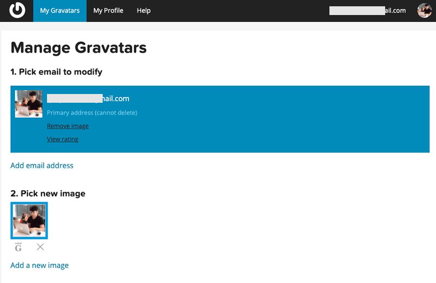 Gavatar 大頭貼調整