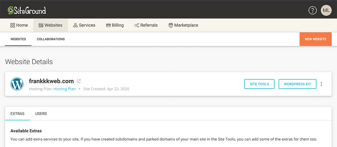 網站製作 :SiteGround網站架設