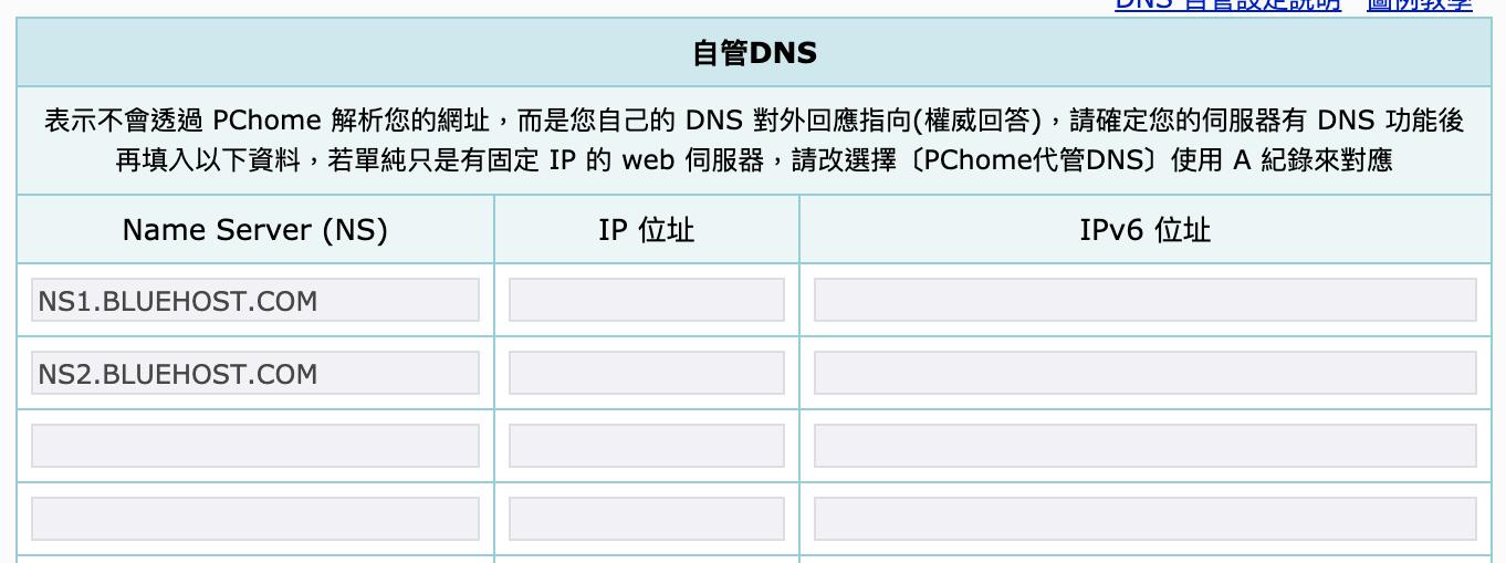 網站架設 :DNS設定指向