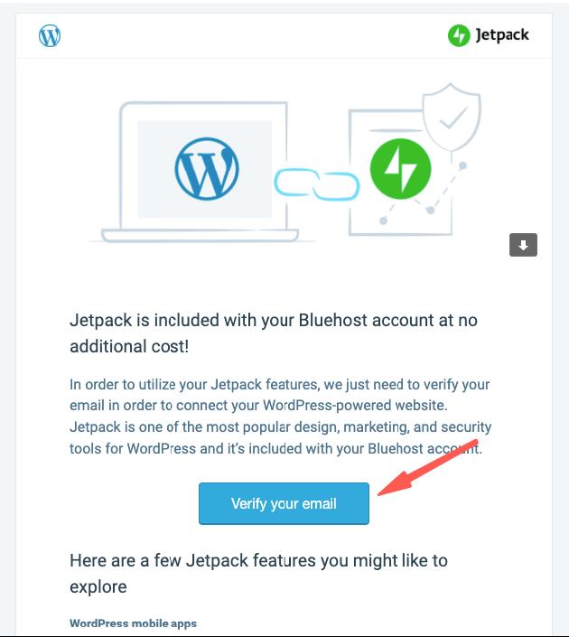 WordPress Jetpack 安裝,信箱驗證