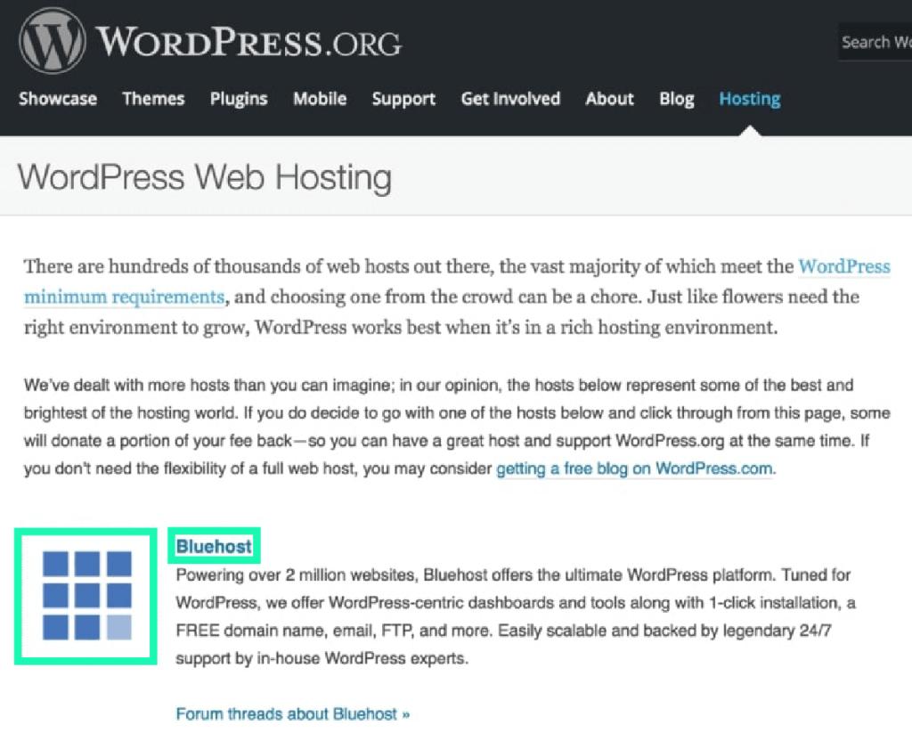 Bluehost教學 :wordpress.org 認證的虛擬主機公司