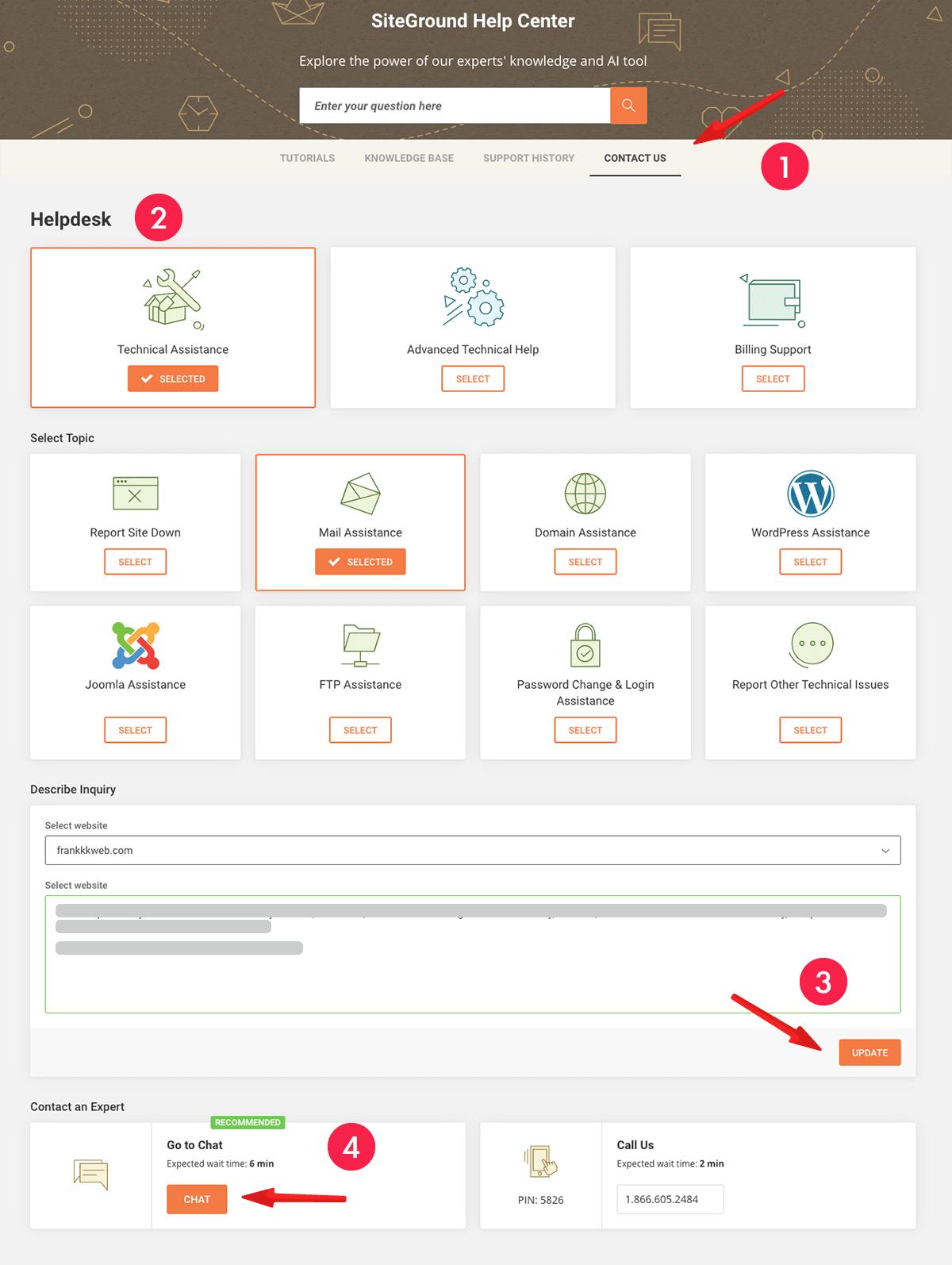 網站製作 :SiteGround 客戶服務