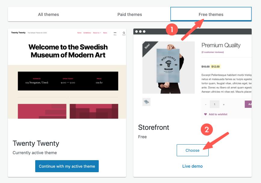 架設購物網站 :wordpress購物車,佈景主題選擇