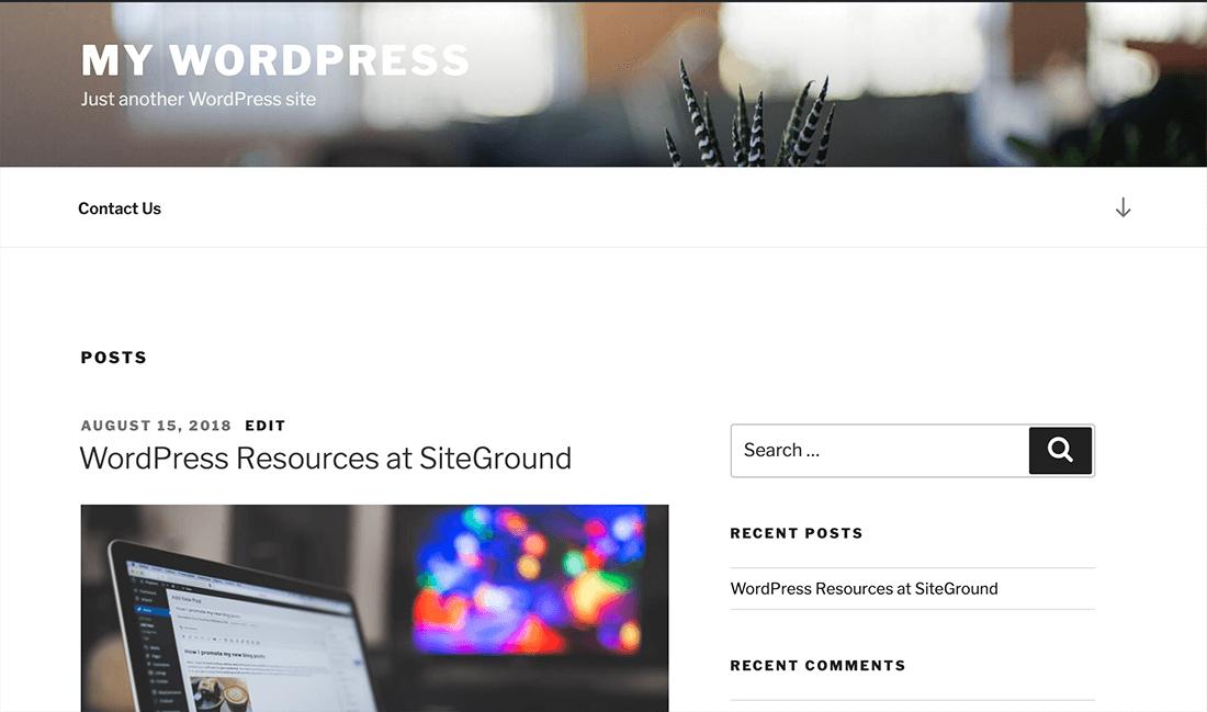 WordPress 網頁設計完成