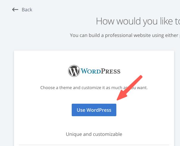 使用 WordPress 新增網站
