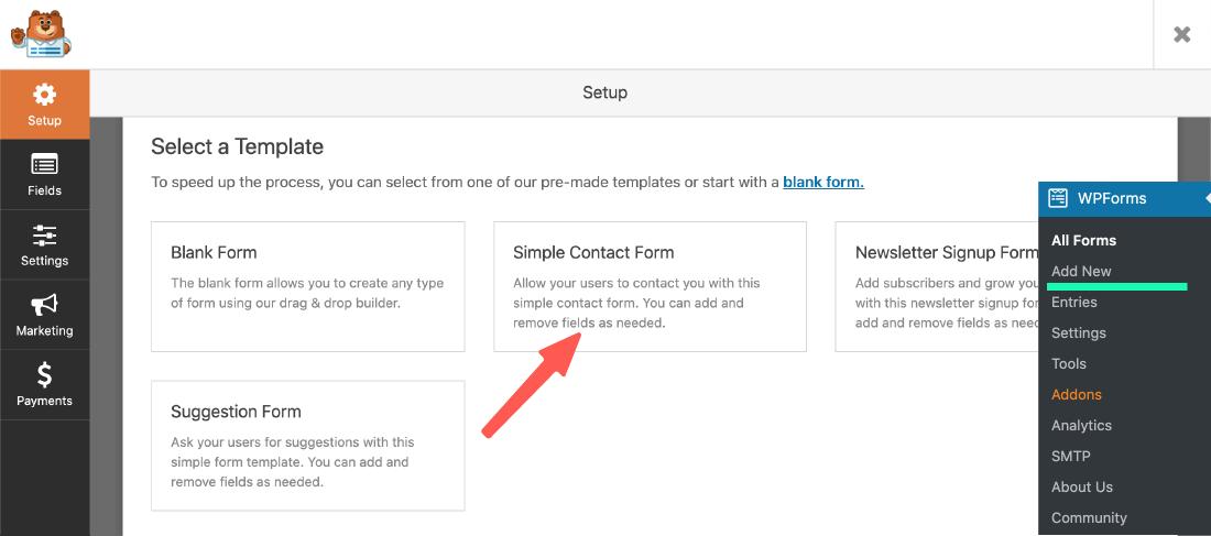 WordPress 聯絡表單外掛:新增一個簡單聯絡表單