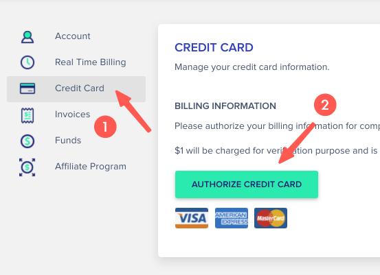Cloudways教學 :設定信用卡資訊