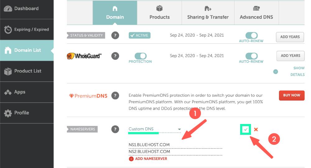 NameCheap 的 DNS 指向設定