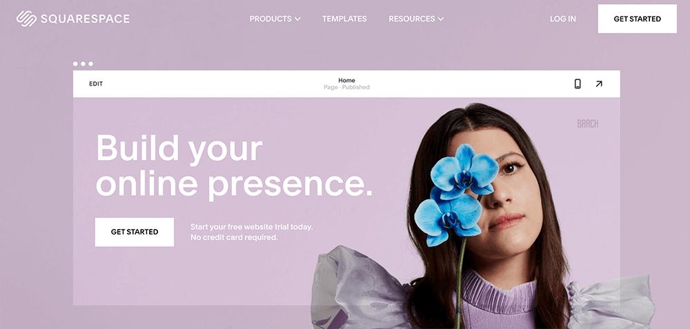 網頁製作平台 :squarespace