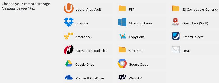 updraftplus 多種檔案儲存方法