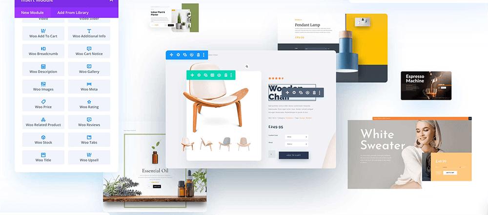 開店平台頁面設計:Divi 的 WooBuilder 購物編輯器