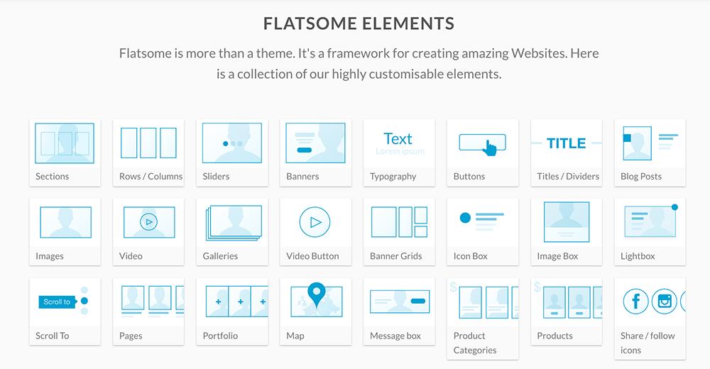 flatsome 多功能的區塊元素