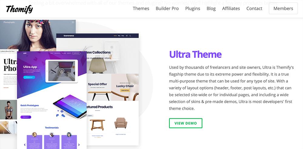 Themify Ultra 佈景主題推薦