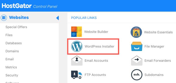 HostGator教學 :找到 WordPress Installer(WordPress 一鍵安裝)