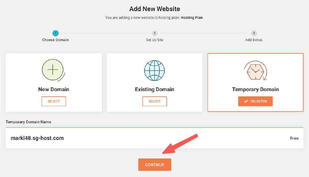 WordPress安裝 :選取網址方式,建立網站