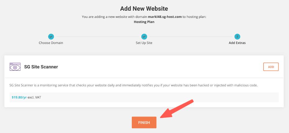 WordPress安裝 :不加購功能,點擊完成