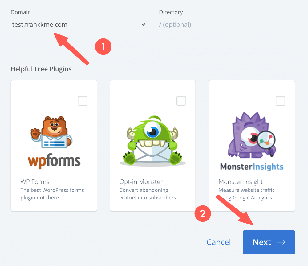 WordPress安裝 :選擇網域和外掛
