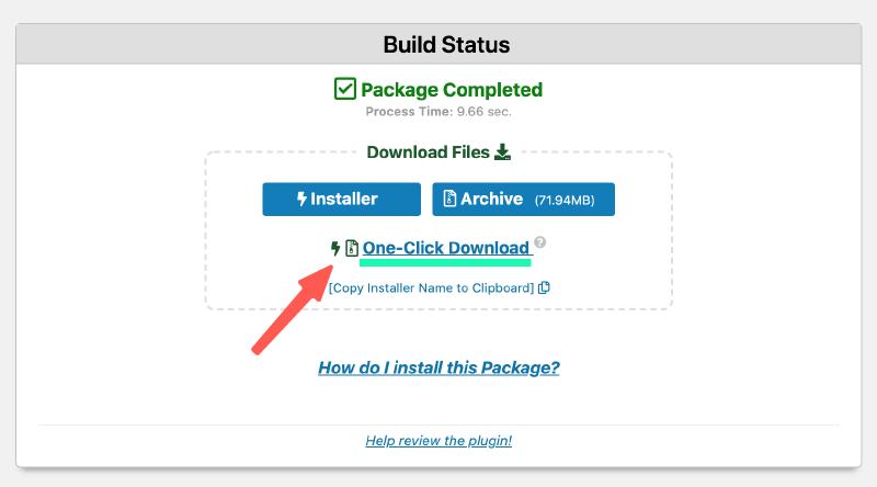 WordPress網站搬家 :Duplicator 備份完成,點擊下載