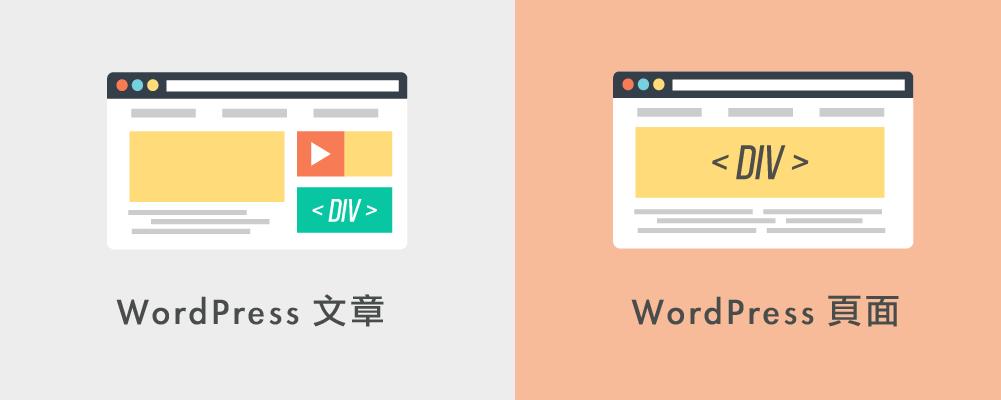 WordPress 文章和 WordPress 頁面,有什麼不同?