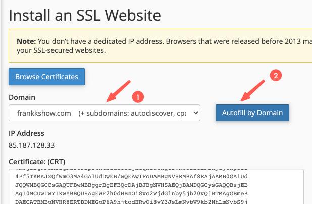 A2 主機教學:安裝免費 SSL 憑證
