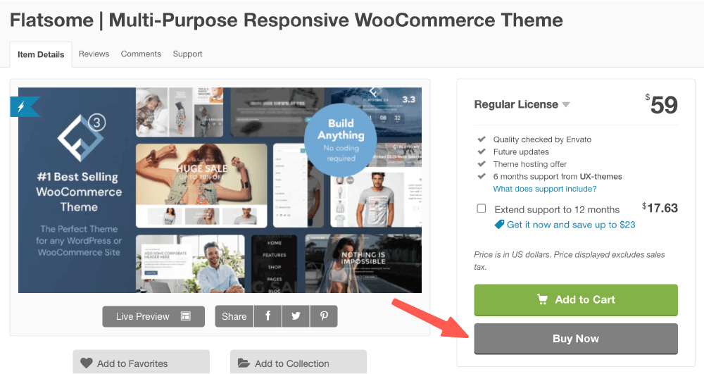 Flatsome教學 :購買 WordPress Flatsome 主題
