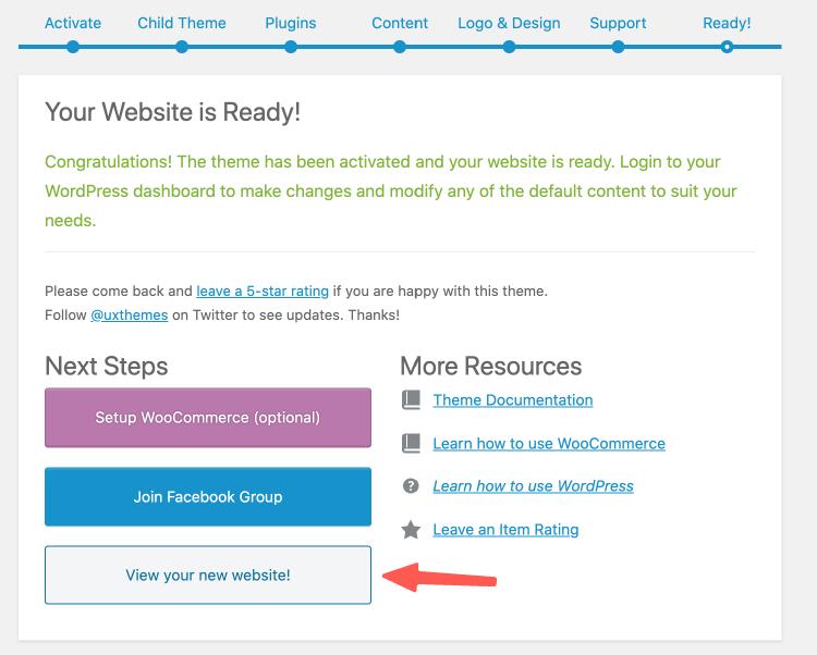 Flatsome教學 :Flatsome 網路開店平台安裝成功