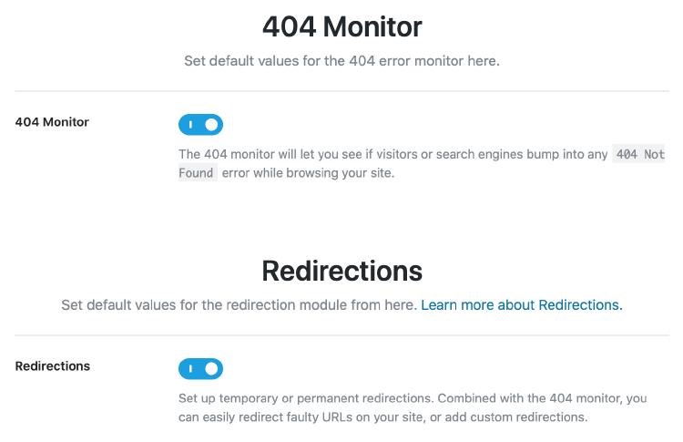 404 錯誤偵測器&網站轉址功能