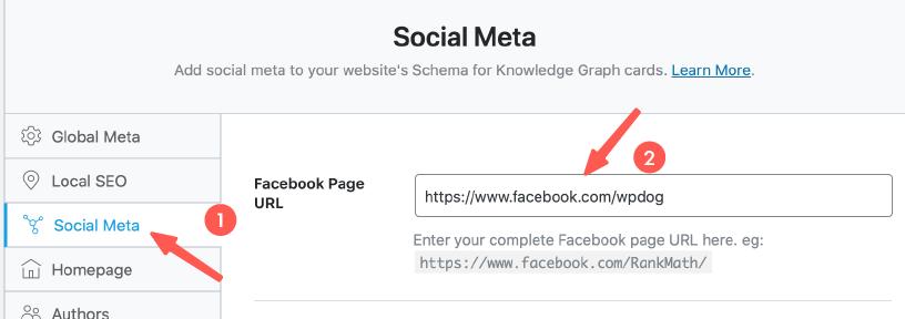 社群媒體設定(FB、Twitter ..)