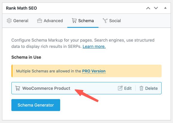 Rank Math SEO 軟體,Woocommerce 商品頁面的 Schema 優化
