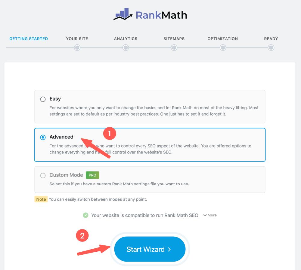 Rank Math 選擇進階設定