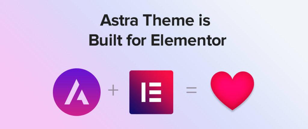 Astra 主題+Elementor 頁面編輯器,兩者完美搭配