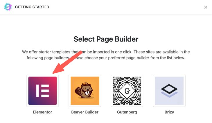 選擇頁面編輯器相關的模板
