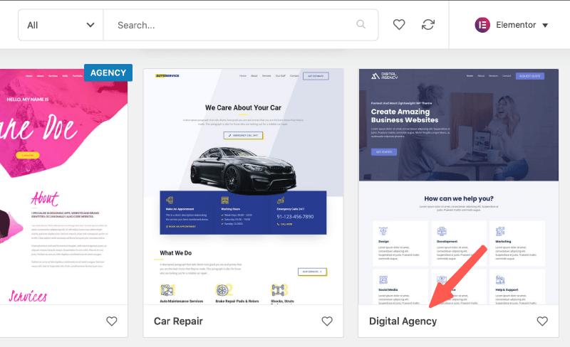 安裝 digital agency 樣板
