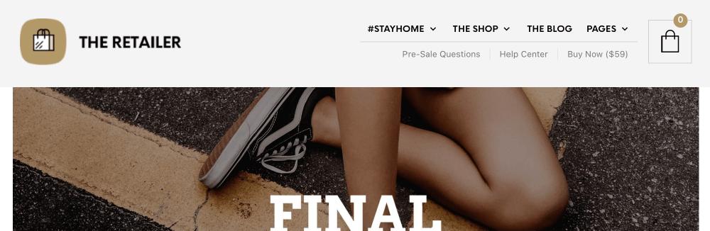 WooCommerce主題 :The Retailer 優質主題