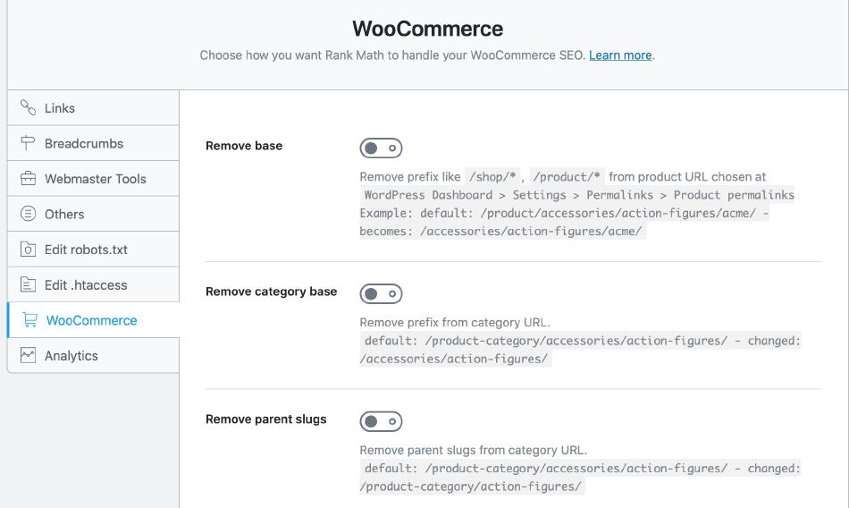 Rank Math 的 Woocommerce 商品優化
