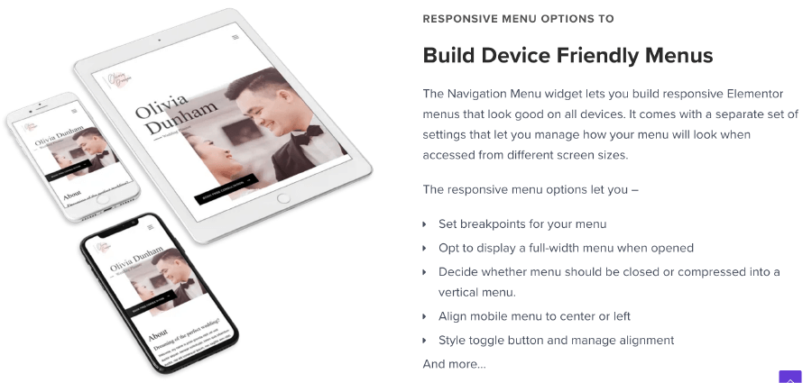 Navigation Menu 友善的手機選單支援