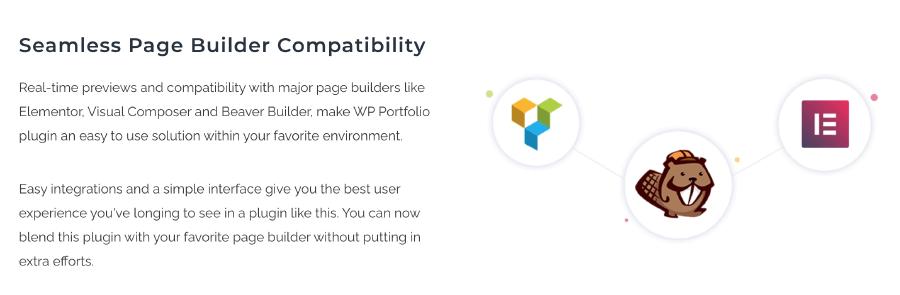 WP Portfolio 支援多種主流頁面編輯器