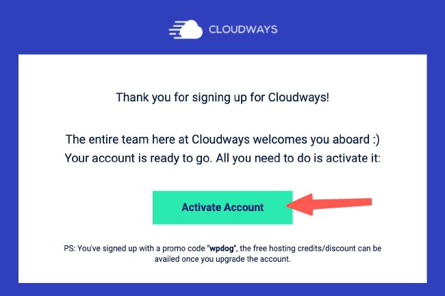 Cloudways教學 :進行信件認證