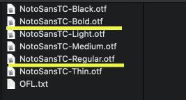 選擇要轉換格式的字體