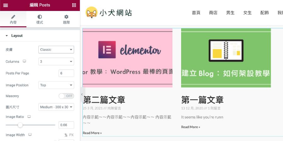 Elementor Pro 教學 :Posts 列表功能