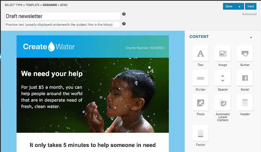 WordPress電子報 :Mailpoet 視覺編輯器