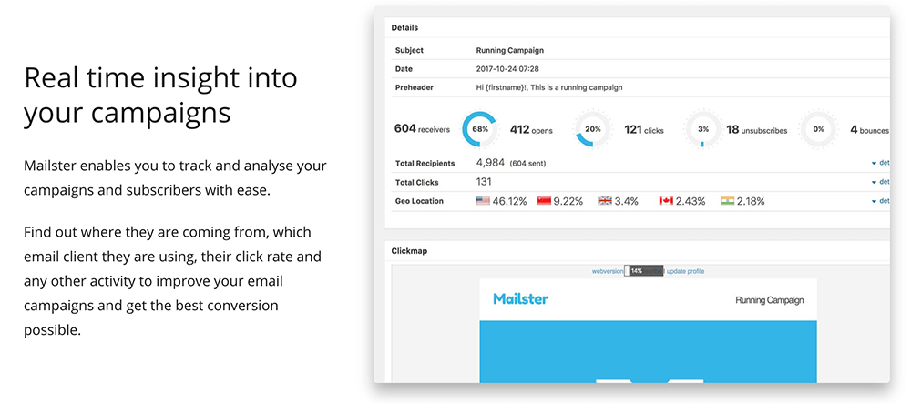 WordPress電子報 :Mailster 強大的客戶追蹤功能
