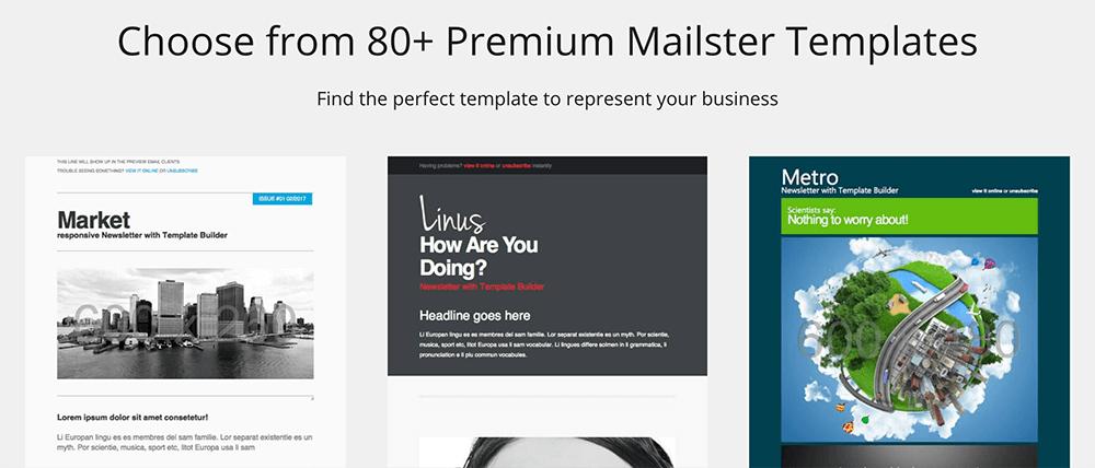 Mailster 多款精美電子報樣板,可直接套用