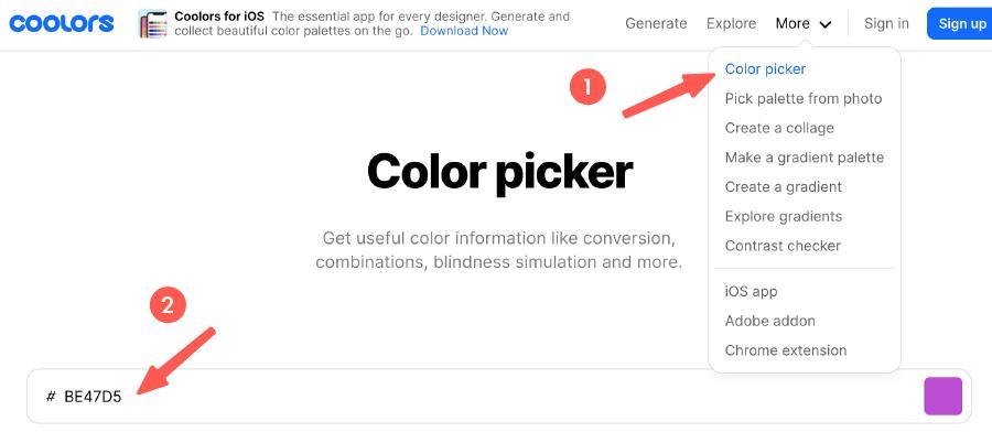 Color Picker 顏色選擇器