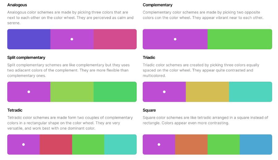 Color Picker 幫你列出相關配色