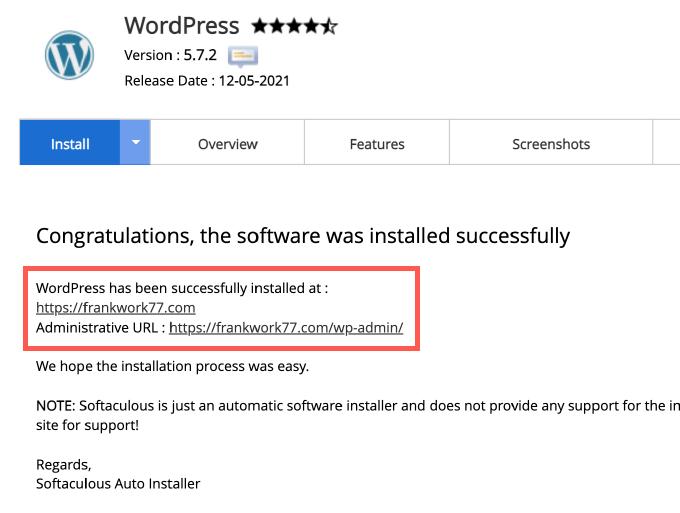 WordPress 網站架設成功&網站前後台路徑