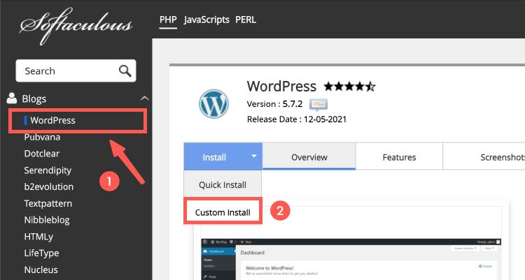 選擇純 WordPress 架站類型